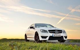 Картинка Mercedes-Benz, white, AMG, front, C63, 507, C-Klasse