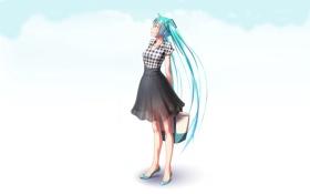 Картинка девушка, аниме, арт, сумка, vocaloid, hatsune miku, takouji