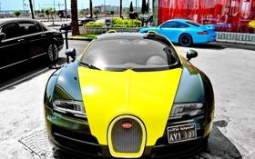 Обои Bugatti, Veyron, передок, гиперкар, Vitesse