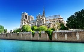 Обои France, Dame, Notre, De-Paris