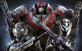 Обои металл, оружие, люди, скафандр, броня, мужчины, PlanetSide 2