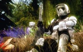 Обои лес, оружие, Star Wars, солдат, шлем, броня, винтовка