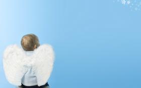 Картинка ребенок, маленький, звёзды, ангел