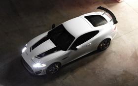 Картинка полосы, фары, Jaguar, капот, автомобиль, спортивный, XKR-S