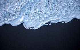 Картинка песок, пена, берег, волна, прибой