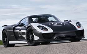 Картинка небо, Prototype, Porsche, суперкар, прототип, Порше, Spyder