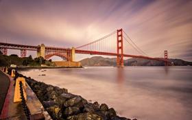 Обои Калифорния, Сан-Франциско, мост Золотые ворота