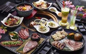 Обои мясо, напитки, овощи, блюда, ассорти, закуски