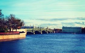 Обои река, спб, нева, spb, Россия, Питер, Russia