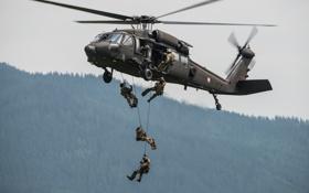 Обои солдаты, вертолёт, многоцелевой, Black Hawk, «Блэк Хок», Sikorsky S-70