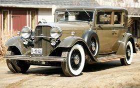 Обои Lincoln, передок, 1932, Sedan, 4-door, Model KB, Линкольн.ретро