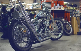Обои chopper, bike, custom, looser machine