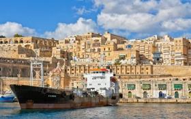 Обои Мальта, Malta, танкер, Valletta, Валлетта