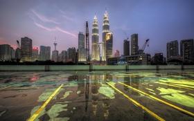 Обои город, Kuala Lumpur, Malaysia