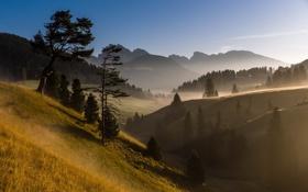 Картинка пейзаж, горы, природа, туман