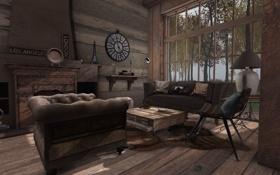 Обои дизайн, стиль, комната, интерьер