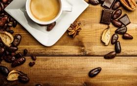Обои кофе, cup, beans, coffee