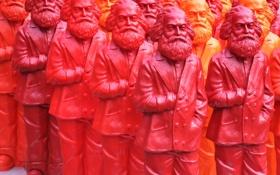 Обои краски, цвет, скульптура, карл маркс, строй