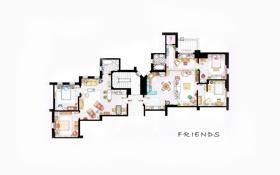 Картинка план, сериал, квартира, друзья, friends