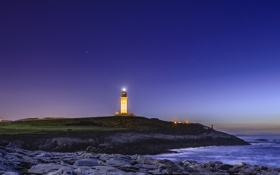 Обои море, пейзаж, маяк, Испания