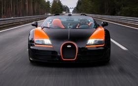 Обои Бугатти, Bugatti, Вейрон, Veyron, суперкар, передок, гиперкар