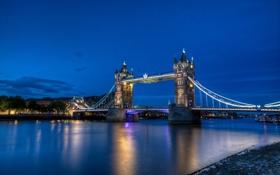 Обои Англия, Лондон, Темза, Тауэрский мост, Tower Bridge, London, England