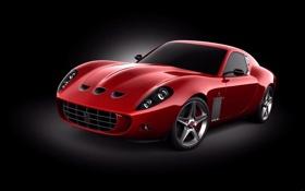 Обои cars, черный фон, auto, Ferrari