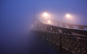 Обои грусть, мечта, мост, туман, раздумья