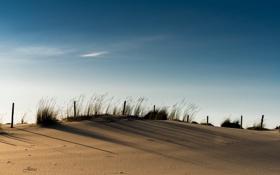 Картинка небо, пейзаж, дюны
