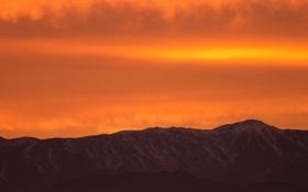 Обои небо, горы, природа, горизонт