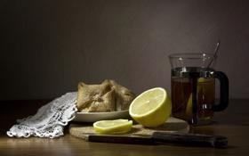 Картинка еда, чай, лимон