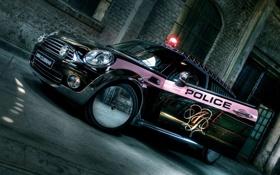 Обои дизайн, полиция, сирена, диски, хорм, оформлание