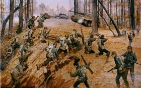 Обои war, October 1944, France, французы, танк, война, немцы