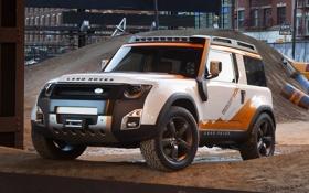 Обои стройка, concept, джип, внедорожник, концепт, land rover, передок