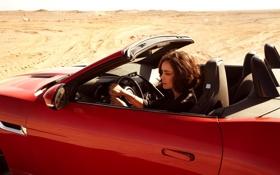 Картинка машина, актриса, брюнетка, автомобиль, Shannyn Sossamon
