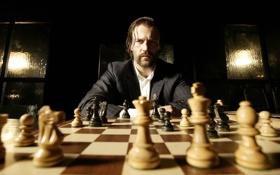 Обои шахматы, Револьвер, оружие