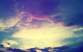 Картинка закат, облака, небо, тучи