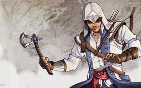 Обои art, connor, коннор кенуэй, assassins creed 3, kenway