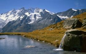 Обои Швейцария, Вале, Озеро Кройцбоден