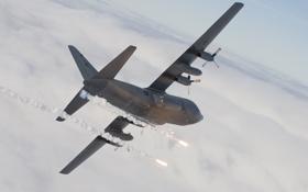 Картинка самолёт, C-130, Super Hercules, военно-транспортный
