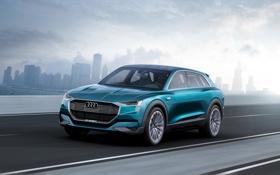 Обои Audi, ауди, concept, концепт, e-tron, quattro, 2015
