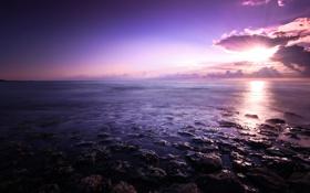 Картинка небо, вода, облака, камни, фото, берег, пейзажи