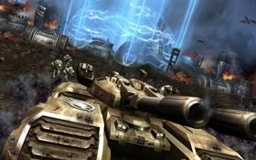 Картинка база, CnC, GDI, C&C, ионная пушка, Tiberium Wars, Танк Мамонт