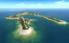 Обои обои, остров, Battlefield, 1943, онлайн, wake island, многопользовательская игра