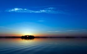 Обои закат, отражение, небо, море