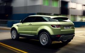 Картинка Range Rover, Land Rover, вид сзади, скорость, машина, Evoque