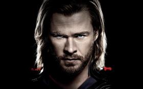 Обои лицо, Thor, Chris Hemsworth