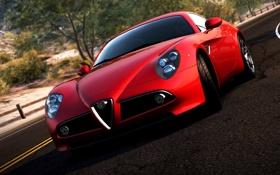 Обои суперкар, Alfa Romeo, need for speed most wanted 2, дорога, авто