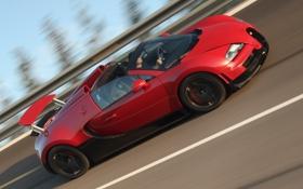 Обои Roadster, red, Bugatti Veyron, black, Grand Sport, Vitesse