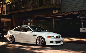 Картинка белый, бмв, BMW, white, E46